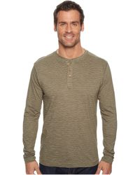 Vintage 1946 - Long Sleeve Slub Knit Henley (taupe) Men's Long Sleeve Pullover - Lyst