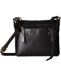 Frye - Carson Crossbody (black Oiled Veg) Cross Body Handbags - Lyst