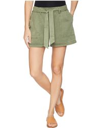Two By Vince Camuto - Tie Waist Lyocell Twill Shorts - Lyst
