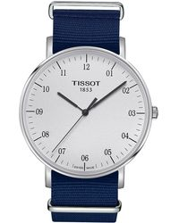 Tissot - Everytime Large Nato - T1096101703700 (silver/blue) Watches - Lyst