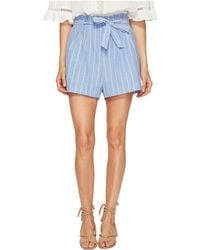 Bishop + Young | Stripe Paperbag Shorts | Lyst