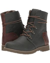 The North Face - Ballard Lace Ii Coated Canvas (carafe Brown/moab Khaki) Women's Boots - Lyst