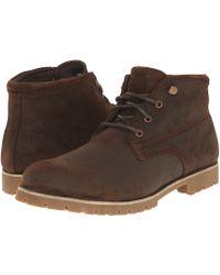 Wolverine - Cort Waterproof Leather Chukka (grey Suede) Men's Work Boots - Lyst
