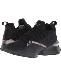 Lyst - PUMA Muse Maia Luxe Casual Sneakers From Finish Line in Black f056e9b1b