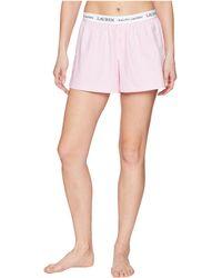 Lauren by Ralph Lauren - Logo Elastic Boxer (hot Pink Stripe) Women's Pajama - Lyst