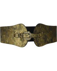 Steve Madden - Metallic Stretch Belt (black) Women's Belts - Lyst