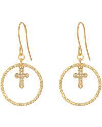 Vanessa Mooney - The Dina Cross Earrings - Lyst