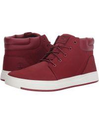 Timberland - Davis Square Plain Toe Chukka (wheat Nubuck) Men's Lace Up Casual Shoes - Lyst