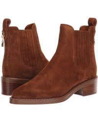 98e2b1c1decff Lyst - Coach Womens Bowery Bootie Suede Closed Toe Ankle Fashion ...