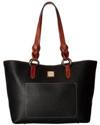 Dooney & Bourke - Pebble Tammy Tote (taupe/tan Trim) Tote Handbags - Lyst