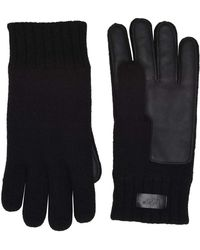 UGG - Knit Conductive Leather Gloves (oceanic Heather) Extreme Cold Weather Gloves - Lyst