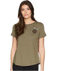 Lauren by Ralph Lauren - Bullion-crest Jersey T-shirt - Lyst