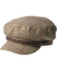 65e618643bb93 Brixton - Fiddler (black Herringbone Twill) Traditional Hats - Lyst