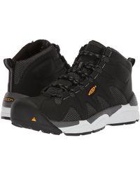 Keen Utility - San Antonio Mid Aluminum Toe (black/silver) Men's Work Boots - Lyst
