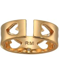 Rebecca Minkoff - Heart Cut Out Ring (gold) Ring - Lyst