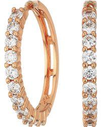 Betsey Johnson - Blue By Crystal Stone Hoop Earrings (crystal) Earring - Lyst