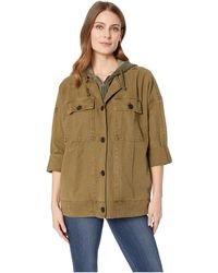 Lucky Brand - Hooded Utility Jacket (olive) Women's Coat - Lyst