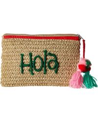 San Diego Hat Company - Bsb1721 Paper Clutch With Embroidery (natural) Clutch Handbags - Lyst