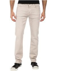 7 For All Mankind - Luxe Performance Slimmy Slim Straight In Twill Colors - Lyst