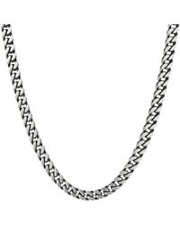"""Steve Madden - Stainless Steel 26"""" Curb Chain Necklace - Lyst"""