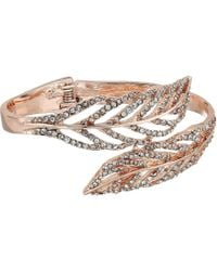Guess - Feather Bypass Hinge Bangle - Lyst