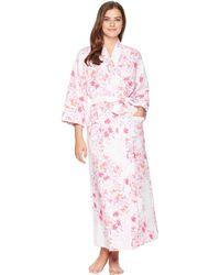Carole Hochman - Diamond Quilt Elbow Sleeve Robe (modern Floral) Women's Pajama - Lyst