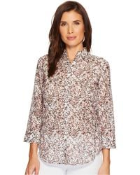 Lauren by Ralph Lauren - Floral Cotton-silk Shirt - Lyst