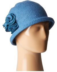 San Diego Hat Company   Cth8088 Soft Knit Cloche With Side Flower   Lyst