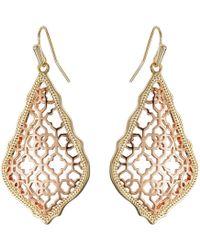 Kendra Scott - Addie Earrings (mixed Gold/rhodium) Earring - Lyst