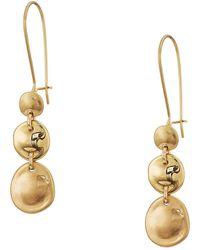 Robert Lee Morris - Gold Disc Drop Shephard Hook Earrings (gold) Earring - Lyst