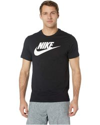 12679194c Nike - Nsw Icon Futura Tee (dark Grey Heather/black/white) Men's