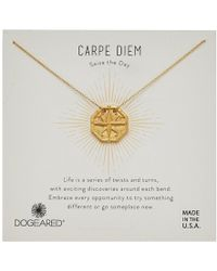 Dogeared - Carpe Diem, Slide Through Compass Necklace (silver) Necklace - Lyst