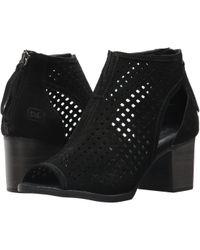 Dirty Laundry - Tessa Peep Toe Bootie (black) Women's Dress Lace-up Boots - Lyst