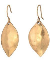 The Sak - Single Petal Drop Earrings (silver) Earring - Lyst