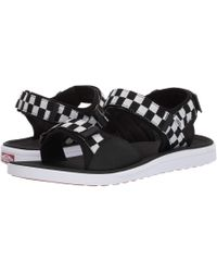5f6ba28f4b6 Vans - Ultrarangetm Tri-lock ((checkerboard) Black true White) Sandals