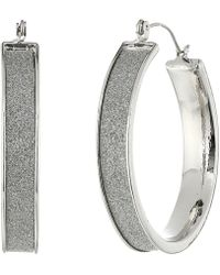 Steve Madden - Glitter Hoop Earrings - Lyst