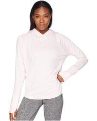 Brooks - Dash Hoodie (heather Blush/blush Stripe) Women's Sweatshirt - Lyst