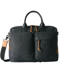 Fossil - Defender Top Zip Workbag - Lyst