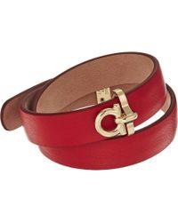 Ferragamo - Br Double Pl Bracelet - Lyst