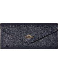 8ea5087a90 COACH - Soft Wallet In Crossgrain Leather (li navy) Wallet Handbags - Lyst