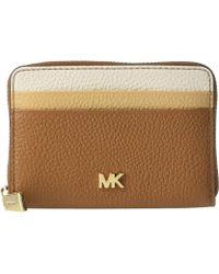 2f66692bf1f9 MICHAEL Michael Kors - Zip Around Coin Card Case (vanilla acorn) Credit Card