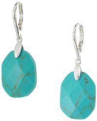 Lauren by Ralph Lauren - Turquoise Stone Drop Earrings (silver/turquoise) Earring - Lyst