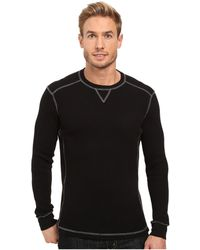 Mod-o-doc - Seacliff Long Sleeve Crew Thermal Crew (black) Men's Long Sleeve Pullover - Lyst