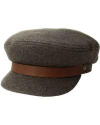 Brixton - Fiddler (black Herringbone Twill) Traditional Hats - Lyst 01706f6f292a