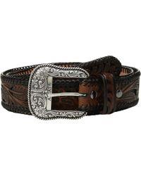 Ariat - Tapered Floral Pierced Belt (black/brown) Men's Belts - Lyst