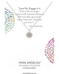 Dogeared - Maya Angelou: Love Life, Engage In It Necklace (gold Dipped) Necklace - Lyst