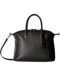 Tory Burch - Mcgraw Slouchy Satchel (black) Satchel Handbags - Lyst
