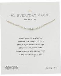 Dogeared - The Everyday Magic Bracelet, Opalescence Gem Bar On Chain (sterling Silver) Bracelet - Lyst