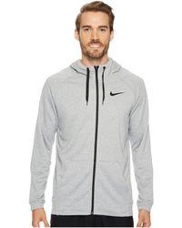 84eb5bd20d45d6 Nike - Big Tall Dry Training Full Zip Hoodie (black white) Men s Fleece