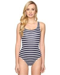 Tommy Bahama - Breton Stripe Laced-back One-piece Swimsuit - Lyst